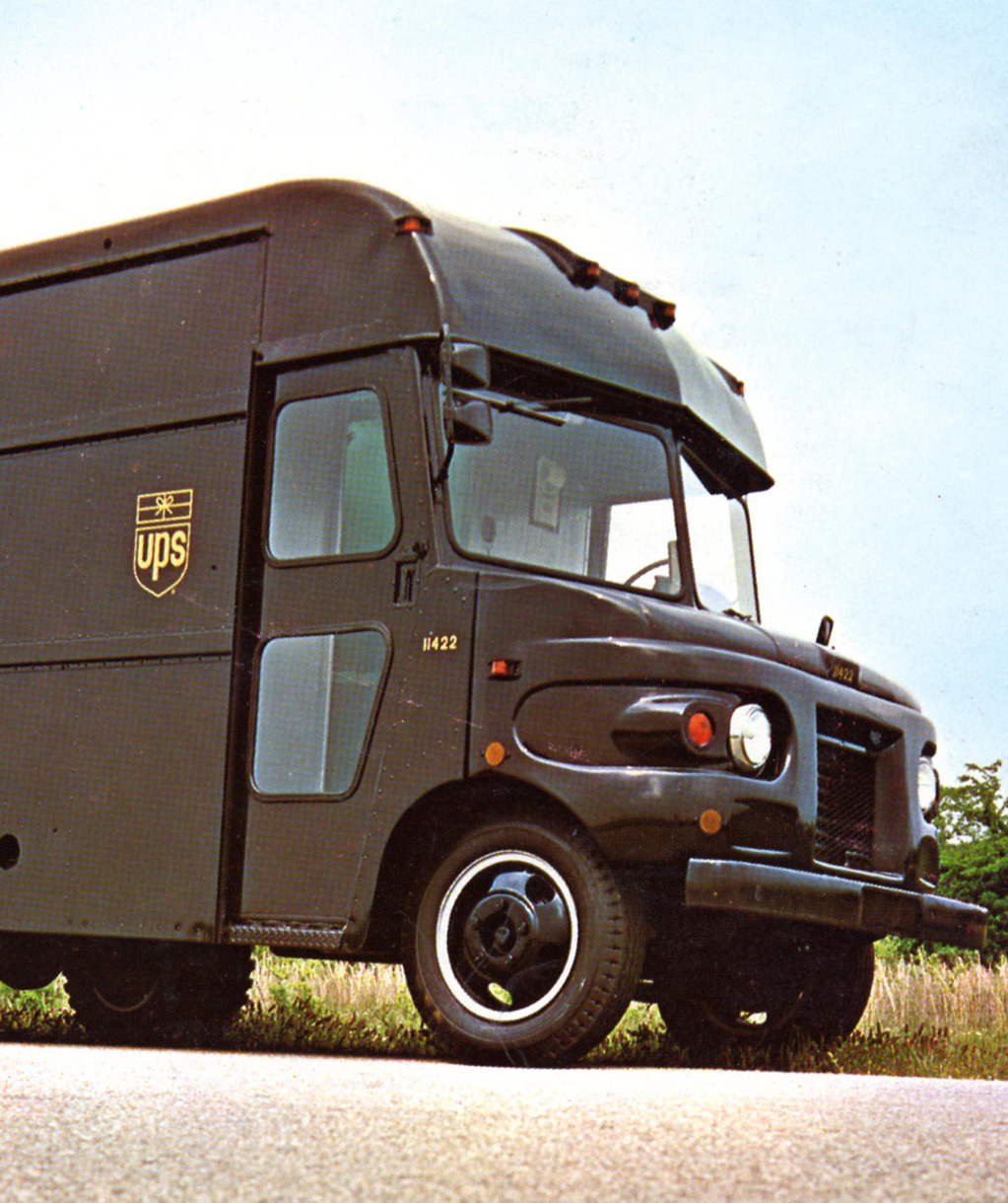 UPS paket teslimat kamyonu